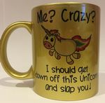 Me Crazy off unicorn Personalised Mug